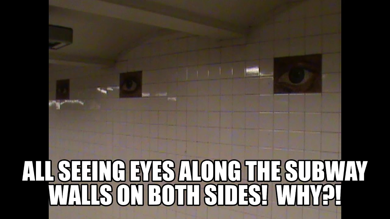 THE ALL SEEING EYE!  NYC SUBWAY!