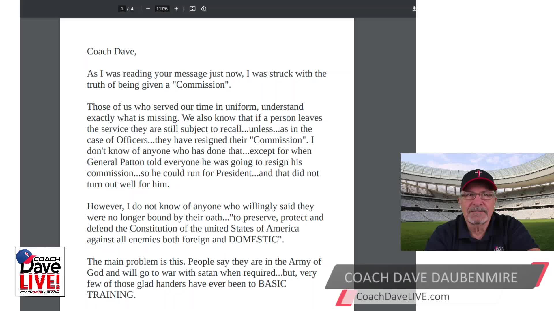 Coach Dave LIVE | 4-5-2021 | EASTER EGGS FROM HELICOPTERS? REALLY?