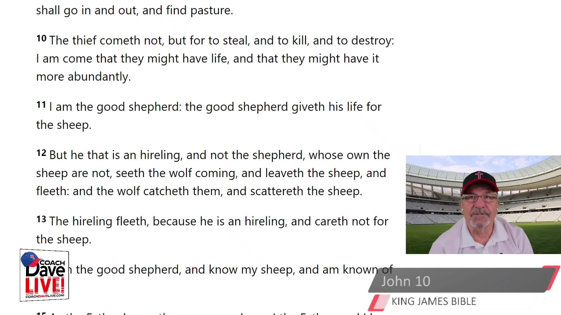 Coach Dave LIVE   4-6-2021   TRUE SHEPHERDS WILL DIE FOR THE SHEEP