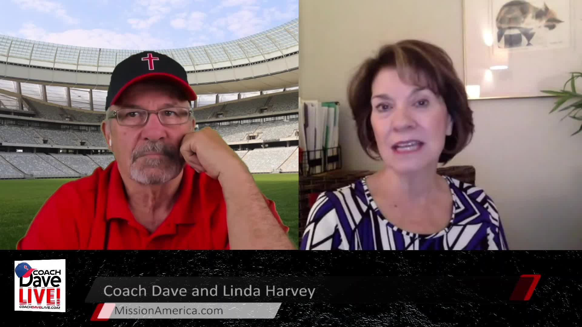 Coach Dave LIVE | 4-7-2021 | SPECIAL GUEST LINDA HARVEY OF MISSION AMERICA - AUDIO ONLY